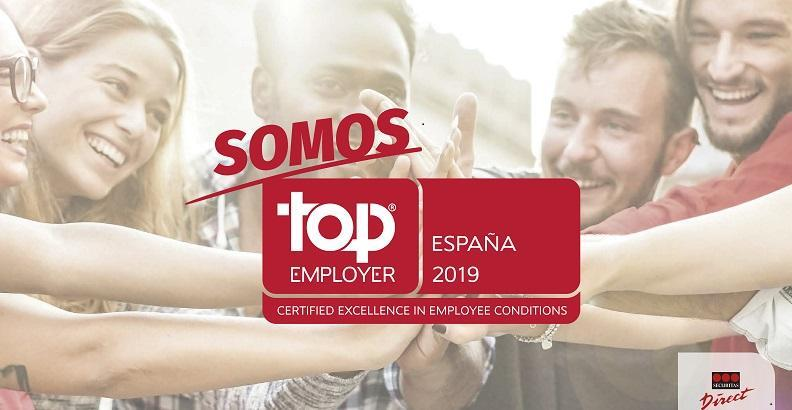 Securitas Direct certificada como Top Employer